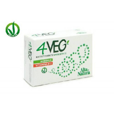 4VEG 60cps da 1g  MORINGA - CLORELLA - SPIRULINA - VITAMINA B12