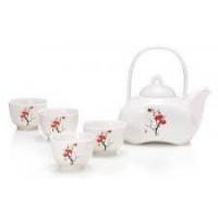 MINURO Servizio new bone china - 1 teierada 0,37l e 4 tazze da 0,06l