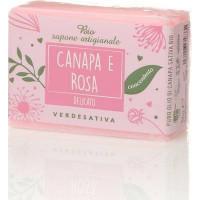 Sapone Canapa e Rosa Bio-Delicato g100